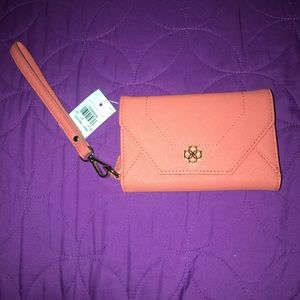 Ann Taylor Orange Wristlet (NWT)